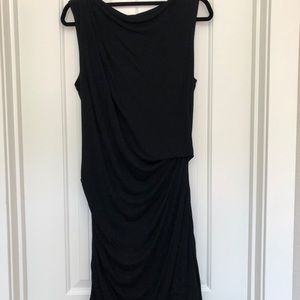 Helmet Lang ruched jersey dress black